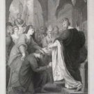 "Benjamin West ""P Johns Submission to Richard I"" Engraving"