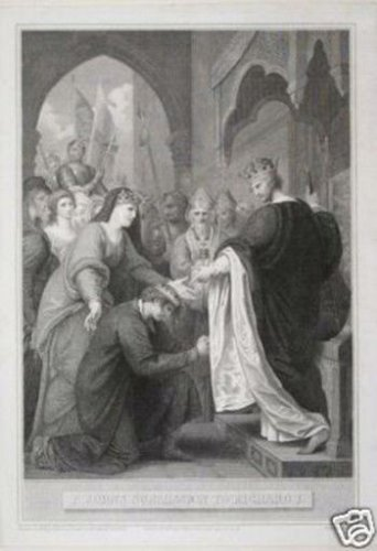 Benjamin West �P Johns Submission to Richard I� Engraving