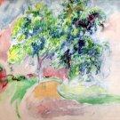 """Pierre-Auguste Renoir """"Watercolor Landscape # 2 """" Lithograph"""