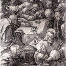 Lucas Van Leyden - The Last Supper - Engraving