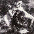 "Henri  Fantin-Latour ""Idyl"" Lithograph - 1915"