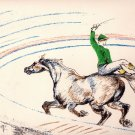 Herni Toulouse-Lautrec- Circus Rider on Horse back lithograph