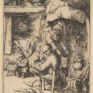 Adriaen van Ostade -Father of The Family - Etching