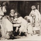 Sir David Wilkie The Lost Receipt Etching