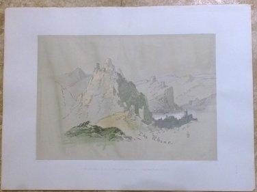 "George Stubbs "" Rhine "" Lithograph"