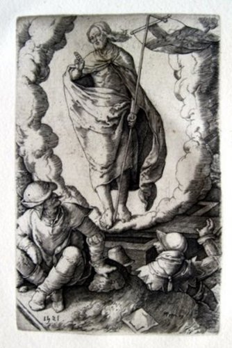 Lucas van Leyden - The Ressurection - Engraving - pre 1800
