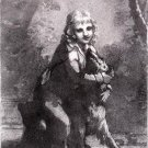 "Pierre Paul Prud'hon ""Petite Boy & Dog"" Original Lithograph"