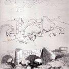 George Stubbs - Three Studies of a Rural Bridge - Chromo-Lithography