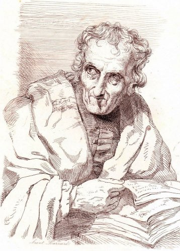 George Hayter - Portrait of Barnard Dunkley - Saint Barnard - Etching