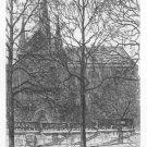 "Samuel Chamberlain ""Notre Dame Paris"" Etching"