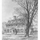 "Samuel Chamberlain ""Wadsworth House"" Etching"
