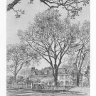 "Samuel Chamberlain ""Adams Mansion,Quincy"" Etching"