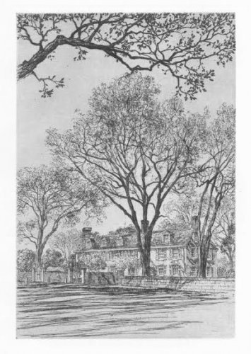"Samuel Chamberlain ""Adams Mansion Quincy � Etching"