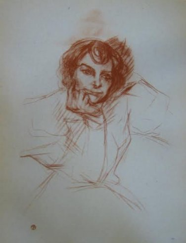 """Toulouse-Lautrec """"Berthe Bady - Limited Edition Lithograph"""