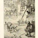 Felix Buhot  -Le Secret de maitre Cornill -Etching