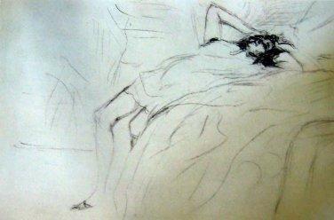 "Toulouse-Lautrec ""Lassitude "" Limited Edition Lithograph"