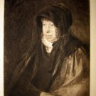 Andrew Geddes - Wm. Hole -The Artist's Mother  Etching