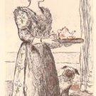Raffaelli  - Le Petite Dejeuner  - Lithograph