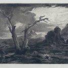 Washington Allston - The Prophet Elijah - Etching by Kimbery