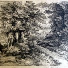 Thomas Gainsborough R.A. -Wooded Path -  Soft Ground Etching