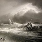 J. M. W. Turner - The Shipwreck - Rare Engraving Proof before Lettering