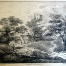 Thomas Gainsborough R.A. - Landscape with a Tower -  Soft Ground Etching