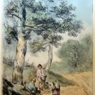 Thomas Gainsborough R.A. - Gathering Faggots -  Soft Ground Etching