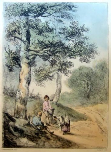 Thomas Gainsborough R.A. - Gathering Faggots -  Soft Ground Etching