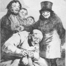 Francisco Goya Plate 30 Porque escomderlos - Les Caprices - LE Engraving