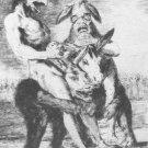 Francisco Goya - Plate 63 - Miren que grabes - Les Caprices - LE Engraving