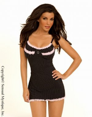 Pink Striped Babydoll