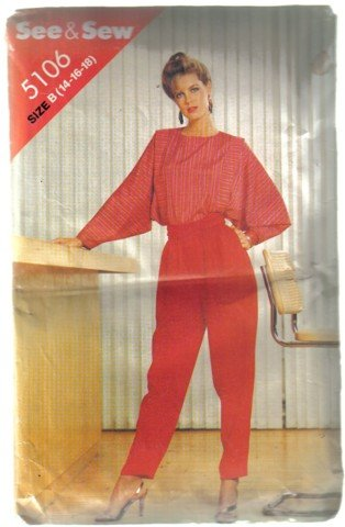 See & Sew Blouse and Pants Pattern sz 14, 16, 18