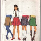Vintage Simplicity 5106 Girls Size 12 Skirt Patterns