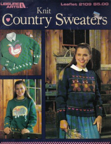 Knit Country Sweaters Sizes 32-40   7 Designs