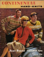 Continental Hand Knits Vintage Sweater, mittens and hat  knitting patterns