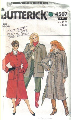 Misses� Butterick 4507  Coat and Jacket  Patterns Sizes 6, 8 & 10  uncut