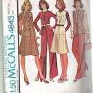 McCall's Misses' Unlined Jacket, Vest, Skirt and Pants Size 10 Pattern Uncut