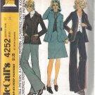 Size 12 McCall's Vintage Misses' Unlined Jacket, Skirt, Vest & Pants