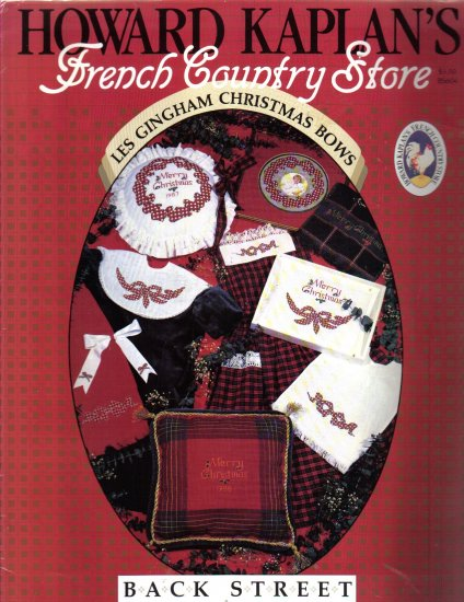 French Country Store � Les Gingham Christmas Bows  cross stitch