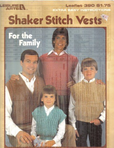 Shaker Stitch Vests to Knit for the Whole Family