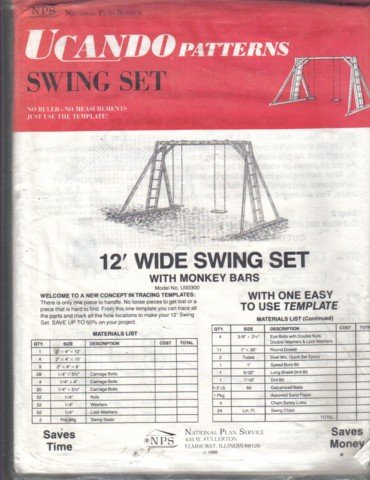 U Cando Swing Set Template  � No ruler or measurements
