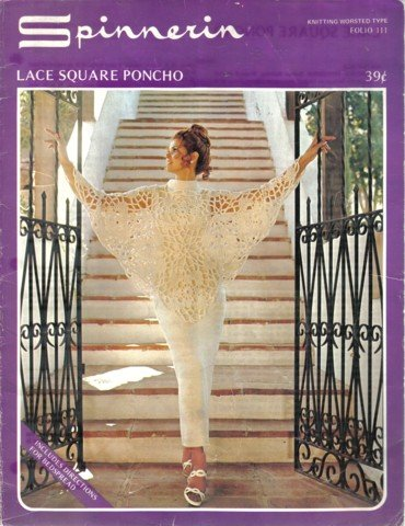 Sprinnerin Lace Square Poncho & Bedspread crochet pattern