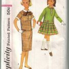 Simplicity Vintage Girls Overblouse detachable collar, cuffs bow  two skirts  Size 12 uncut no 2739