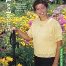 Summer Lace Tee Knitting Pattern Small, Medium, Large and Extra Large