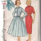 Simplicity Vintage Teen Age' Dress with a Wiggle and a Full Skirt Pattern  Size 14 uncut
