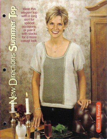 Summer Top Knitting Pattern Petite, Small, Medium, Large