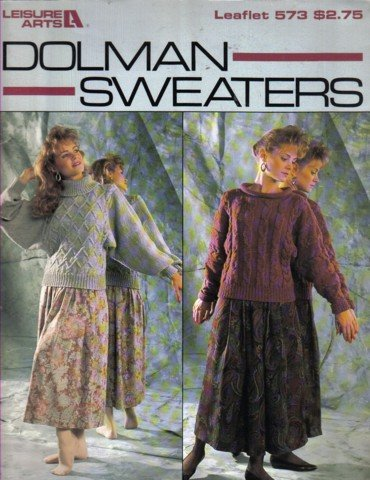 4 Dolman Sweaters  Knitting Pattern  Small, Medium & Large
