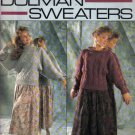 4 Dolman Sweaters  Knitting Pattern  Small, Medium & Large