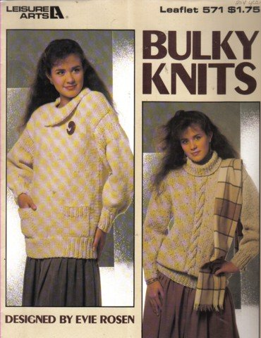 2 Bulky Knit Sweaters  Knitting Pattern Small,  Medium & Large