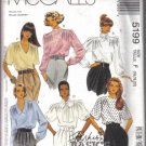 McCall's Misses' Blouse with Shoulder Tucks and Scarf Pattern Size 16, 18, 20  Uncut